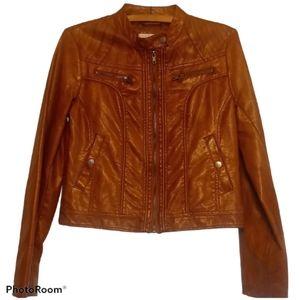 Xhilaration Jacket - Brown Faux Leather w/ Pockets